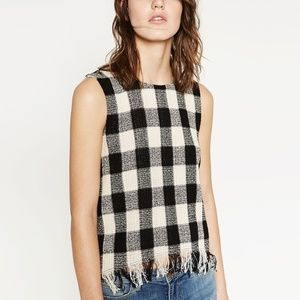 Zara Buffalo Check Blouse